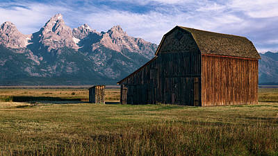 Photograph - Mormon Row Barn by John Hight