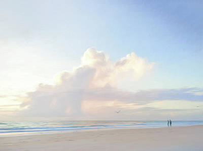 Photograph - Morning Beach Walk 69x92 by Steven Sparks