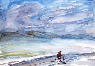 Painting - Morning Bike Ride by Irina Dobrotsvet