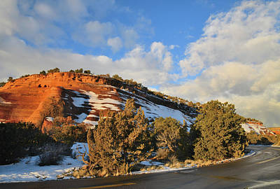 Photograph - Morning Clouds Roll In Over Rim Rock Drive by Ray Mathis