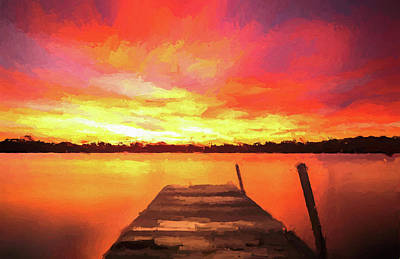 Painting - Morning Colors On The Lake by Dan Sproul