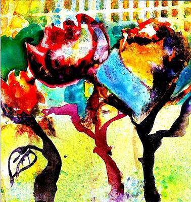 Painting - Morning Flowers  by Jack Loeb