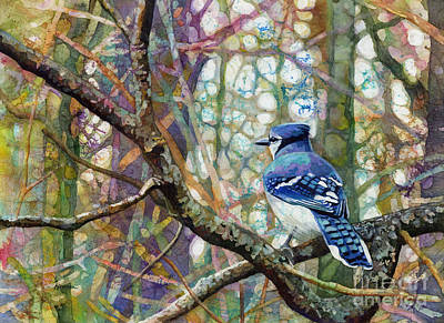 Modern Feathers Art - Morning Forest by Hailey E Herrera