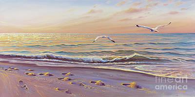 Naples Beach Wall Art - Painting - Morning Glisten by Joe Mandrick