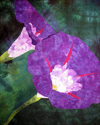 Tapestry - Textile - Morning Glories For Georgia by Pam Geisel