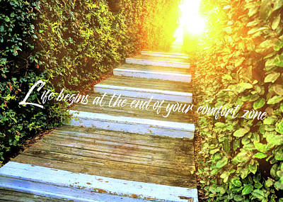 Photograph - Morning Has Broken Quote by Jamart Photography