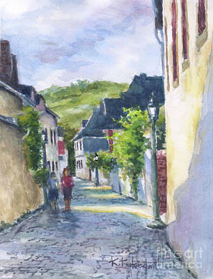 Wall Art - Painting - Morning In Cochem by Kerry Kupferschmidt