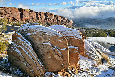 Photograph - Morning In Colorado National Monument After  by Ray Mathis