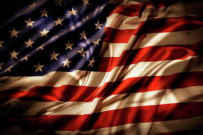 Photograph - Morning Light American Flag  by Les Cunliffe