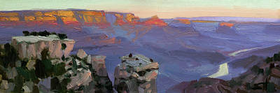 Target Threshold Watercolor - Morning Light at the Grand Canyon by Steve Henderson