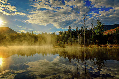 Photograph - Morning Mist, Wildlife Pond  by Jeff Sinon