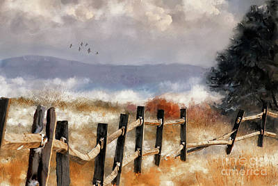 Digital Art - Morning Mists In The Mountains by Lois Bryan