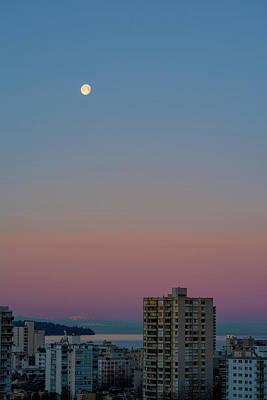 Photograph - Morning Moon by Ross G Strachan