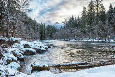 Photograph - Morning On The Mckenzie River Between Snowfalls by Belinda Greb