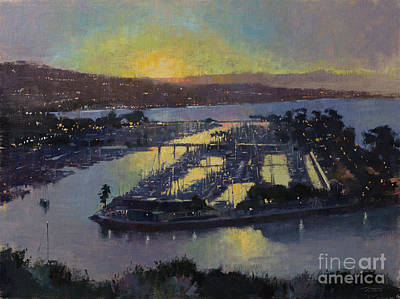 Wall Art - Painting - Morning Spills Into The Cove by Patrick Saunders