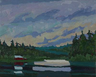 Painting - Morning Stratocumulus On Robinson Lake by Phil Chadwick