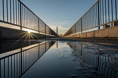 Photograph - Morning Sun At The Flood Wall by Doug Ash