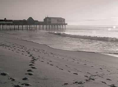 Photograph - Morning Walk On Old Orchard Beach by Dan Sproul