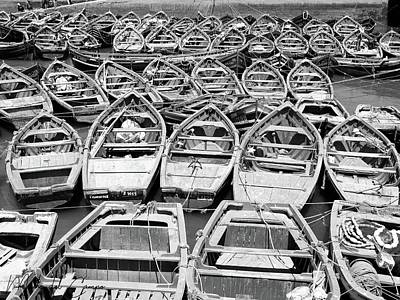 Photograph - Morocco Boats Bw by Mache Del Campo