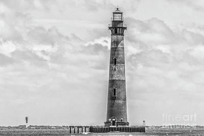 Photograph - Morris Island Lighthouse - Charleston Monochrome by Dale Powell