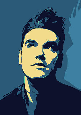 Musicians Digital Art Rights Managed Images - Morrissey Royalty-Free Image by Greatom London