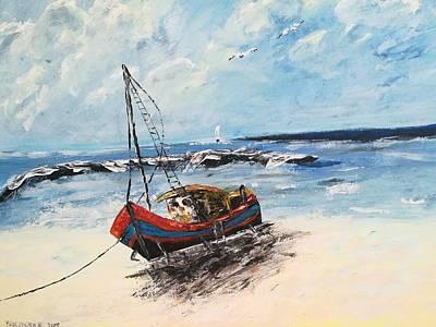 Transportation Painting - Morze 1 by Renata Barczyszyn
