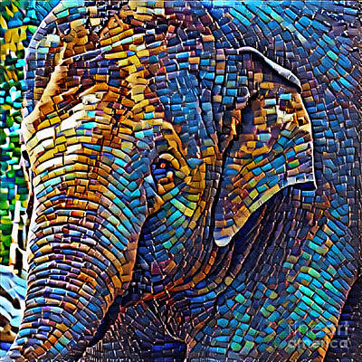 Photograph - Mosaic Elephant By Kaye Menner by Kaye Menner