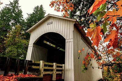 Photograph - Mosby Covered Bridge In Autumn by Lara Ellis