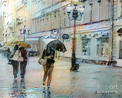 Painting - Moscow In The Rain by Chris Armytage