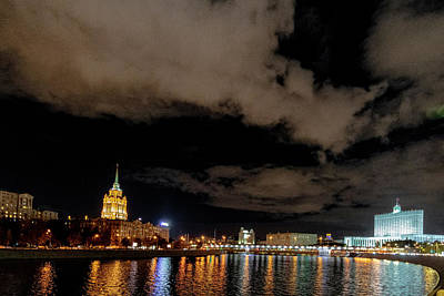 Wall Art - Photograph - Moscow River At Night by Steven Richman