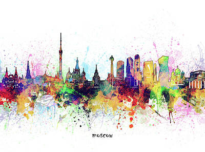 Abstract Skyline Royalty-Free and Rights-Managed Images - Moscow Skyline Artistic by Bekim M
