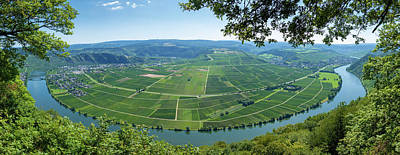 Israeli Flag - Moselschleife Mosel River Bend Germany Panorama by Matthias Hauser
