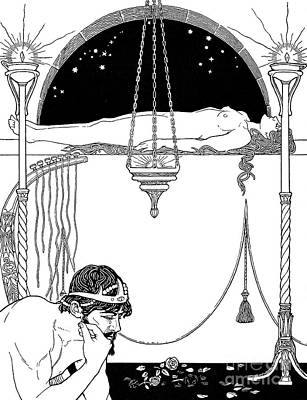 Drawing - Moses Mourning The Death Of His Sister Miriam by Ephraim Moses Lilien