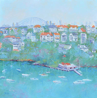 Painting - Mosman Bay And Sydney Harbour Bridge by Jan Matson