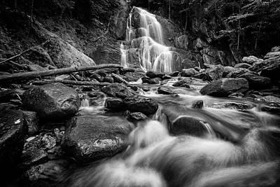 Photograph - Moss Glen Falls In Black And White by Rick Berk