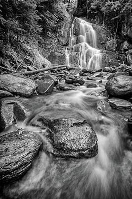 Photograph - Moss Glen Waterfall In Black And White by Rick Berk