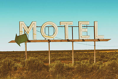 Photograph - Motel Nowhere Retro Film Style by Mark Kiver
