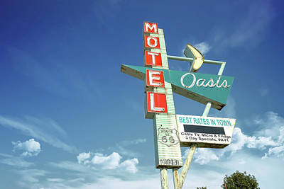 Photograph - Motel Oasis Morning Along Tulsa Oklahoma Route 66 by Gregory Ballos
