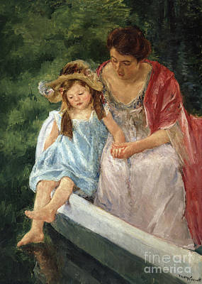 Painting - Mother And Child In Boat, 1908 by Mary Stevenson Cassatt
