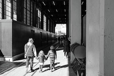 Photograph - Mother And Children Holding Hands On The High Line by Doug Ash
