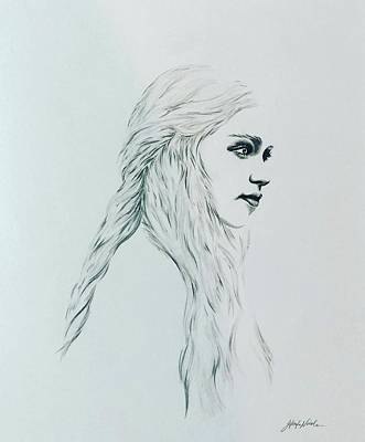 Drawing - Mother of Dragons by Jeleata Nicole
