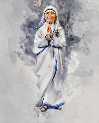 Digital Art - Mother Theresa by Ian Mitchell
