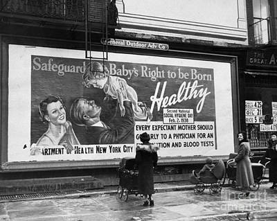 Photograph - Mothers With Their Babies, Looking At by New York Daily News Archive