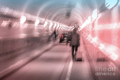 Photograph - Motion Blur In The Elbtunnel by Marina Usmanskaya