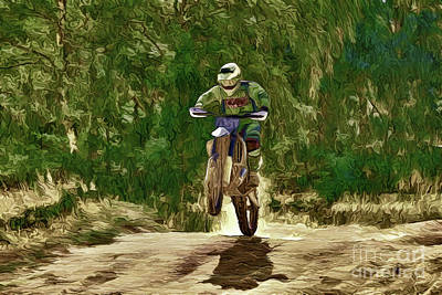 Painting - Motocross A18-106 by Ray Shrewsberry