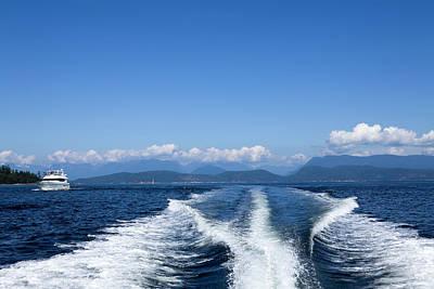 Recreational Boat Photograph - Motor Yacht Boat Wake Motorboating by Laughingmango