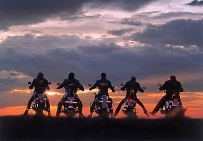Ohio Photograph - Motorcycle Gang,  Akron,  Ohio by Walt Seng