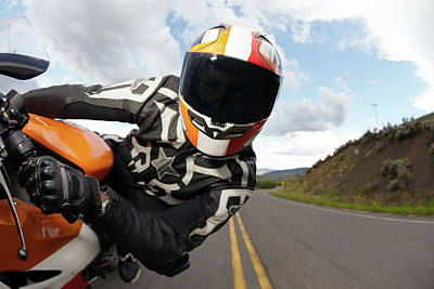 Young Adult Photograph - Motorcycle Racer Going Fast by Daniel Milchev