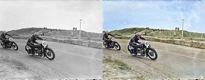 License Plate Skylines And Skyscrapers Rights Managed Images - Motorcycle races in Zandvoort 1946 Royalty-Free Image by Artistic Panda