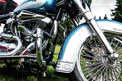 Photograph - Motorcycle by Ron Roberts